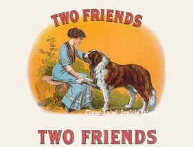 Two Friends-old version cigar label