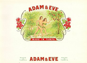 Adam & Eve-inner cigar label