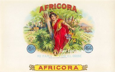 Africora inner cigar label