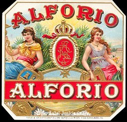 Alforio outer cigar label
