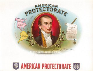 Am Protectorate inner cigar label