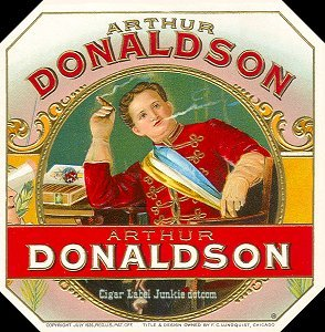 Art Donaldson out- cigar box label