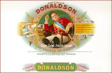 Art Donaldson inner cigar box label