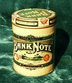 bank note tin1 cigar label art