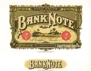 Bank Note inner cigar label