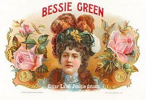 bessie green cigar box label