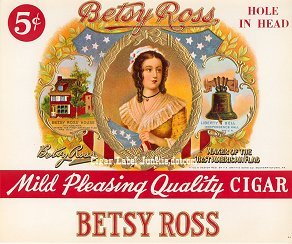 Betsy Ross inner cigar label