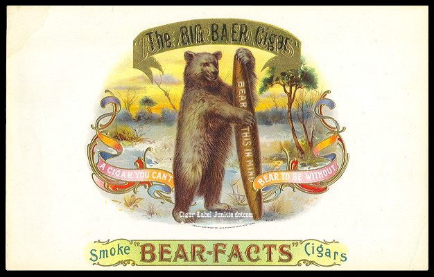 Big Baer Cigars-inner cigar label