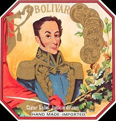 Bolivar outer cigar label