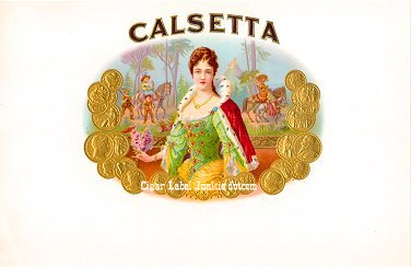 Calsetta inner cigar label
