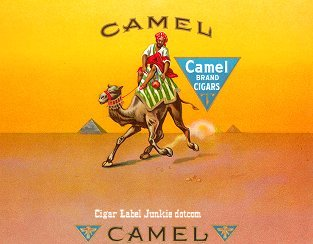 Camel inner cigar label