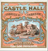 Castle Hall outer cigar box label