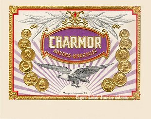 Charmor inner cigar label