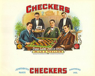 Checkers-inner cigar label