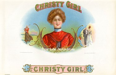 Christy Girl inner cigar label