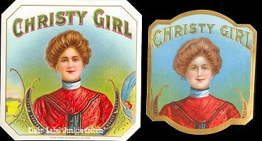 Christy Girl outer cigar box label