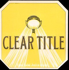Clear Title outer cigar label