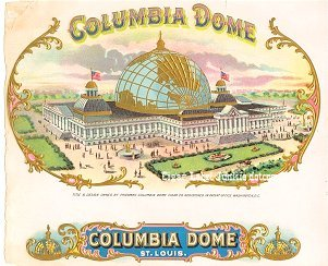 Columbia Dome inner cigar label