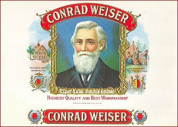 Conrad Weiser inner cigar box label