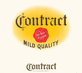 Contract inner cigar label