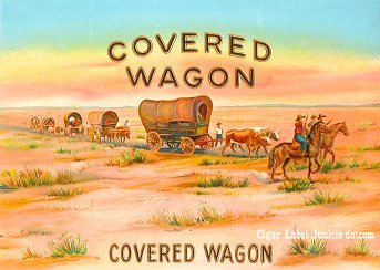 Covered Wagon inner cigar label