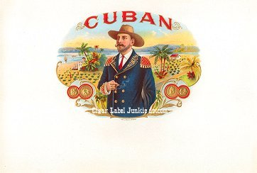 Cuban inner cigar label