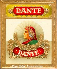Dante Gold outer cigar label
