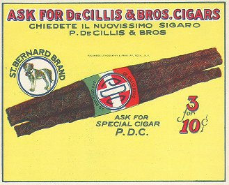 De Cillis-inner cigar label