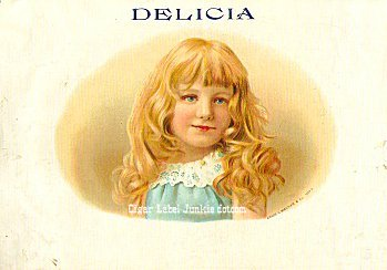 Delicia inner cigar label