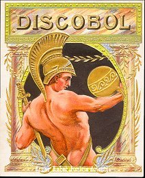 Discobol outer cigar label