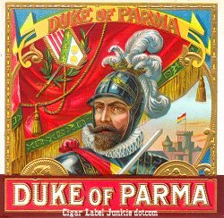 Duke of Parma outer cigar label