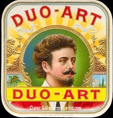 Duo Art outer cigar label