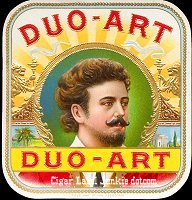 Duo Art outer cigar box label