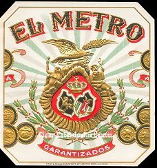 El Metro outer cigar label