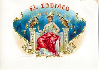 El Zodiaco inner cigar label