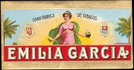 Emilia Garcia end cigar box label
