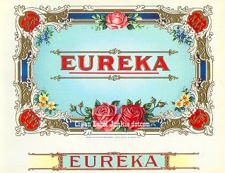 Eureka inner cigar label