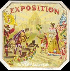 Exposition outer cigar label