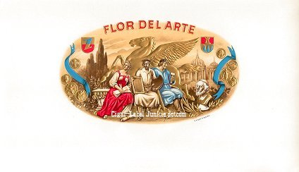 FD Arte inner cigar label