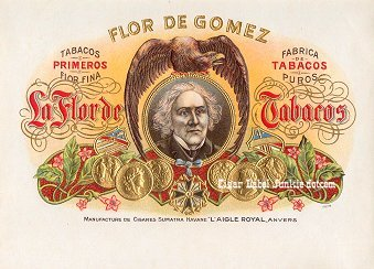 FD Gomez inner cigar label