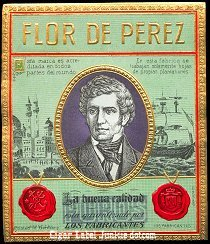 FD Perez outer cigar label