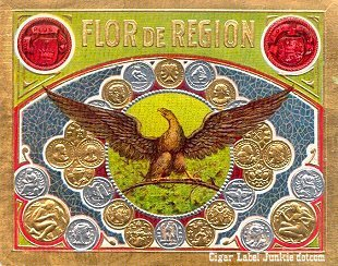FD Region outer cigar label