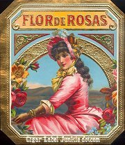 Flor de Rosas outer cigar box label