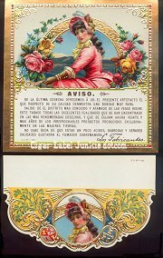 Flor de Rosas caution/flap cigar box label
