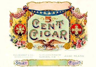 Five Cent cigar box label
