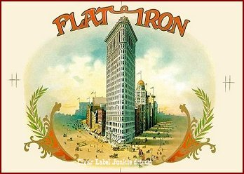 Flatiron Building inner cigar box label