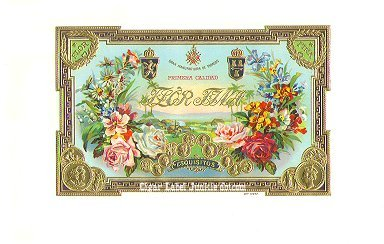 Flor Fina inner cigar label