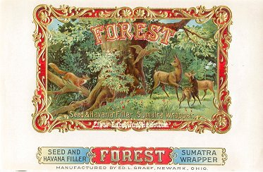 Forest inner cigar label