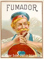 Fumador outer cigar box label