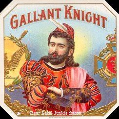 Gallant Knight outer cigar label